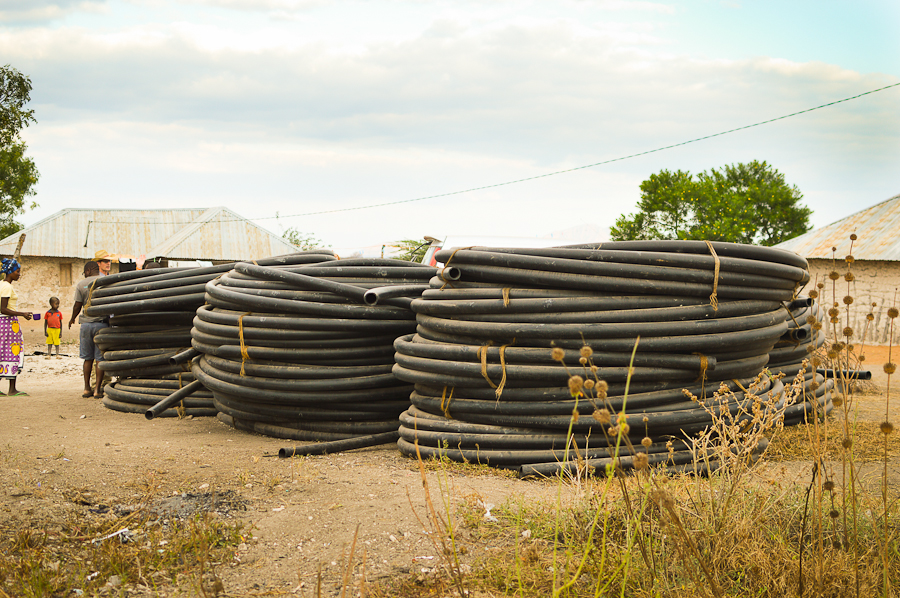 ALL of this pipe is now in the ground!!!
